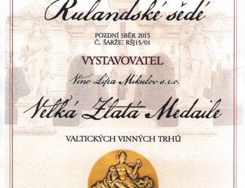 Dvě medaile zValtických vinných trhů